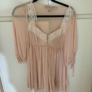 River Island babydoll blouse pink 8/UK 10
